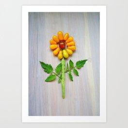 Tomato Sunflower Art Print