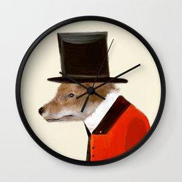 the dapper fox Wall Clock
