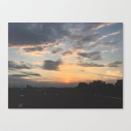 Sunset from the rooftops Canvas Print