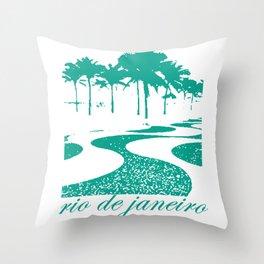 Copacabana beach, Rio de Janeiro, Brazil Throw Pillow