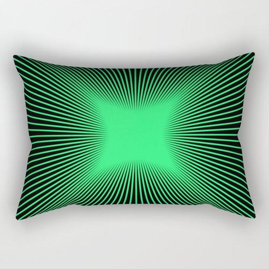 The Emerald Illusion Rectangular Pillow