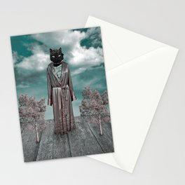 Surreal Scene Collage Stationery Cards