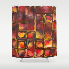 Red Blood Cells in Flow Shower Curtain