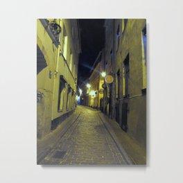 Riga at Night Metal Print