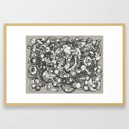 128h44m Framed Art Print