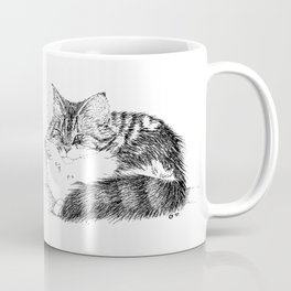 Maine Coon Cat - Pen and Ink Coffee Mug