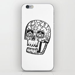 Day of the Deads - black iPhone Skin