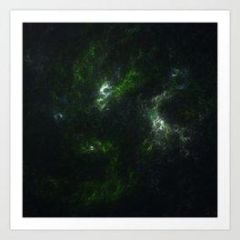 Emerald Dreams - Organic Abstract Fractal Art Print