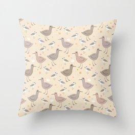 South Carolina shorebirds Throw Pillow