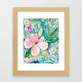PALE PINK HIBISCUS Framed Art Print