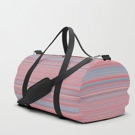 Pink Blue Stripes Duffle Bag