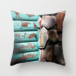 Wood & Stone Throw Pillow