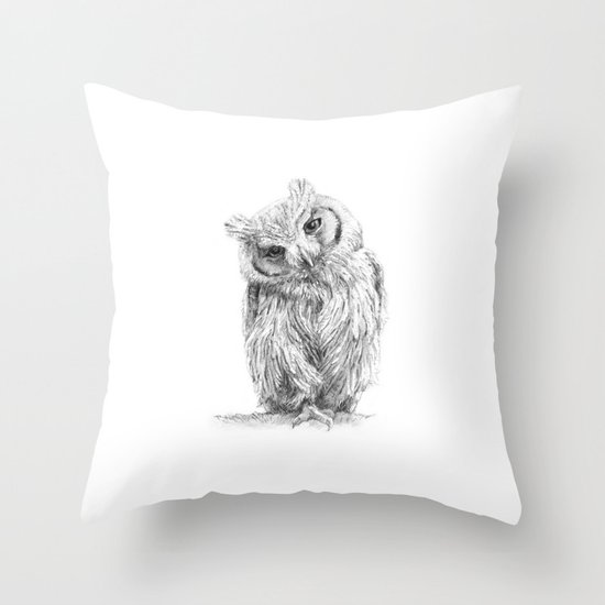 The Northern White-faced Owl  Throw Pillow