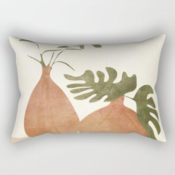 Two Living Vases Rectangular Pillow