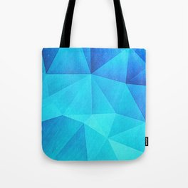 Abstract Polygon Multi Color Cubizm Painting in ice blue Tote Bag