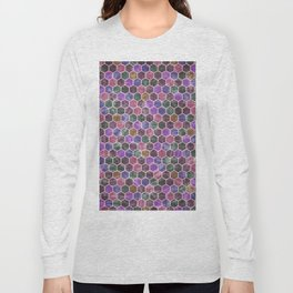Colorful Hexagon Seamless Pattern #02 Long Sleeve T-shirt