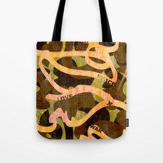 Freedom Peace Love + War Tote Bag