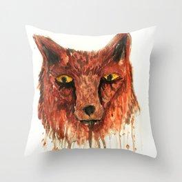Vulpes ignis Throw Pillow