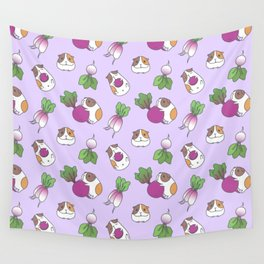 Guinea Pig and Radish Pattern Wall Tapestry