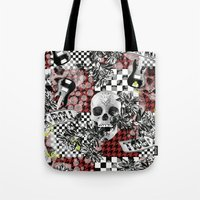 rock n roll Tote Bags featuring 50s rock n roll by Mickaela Correia