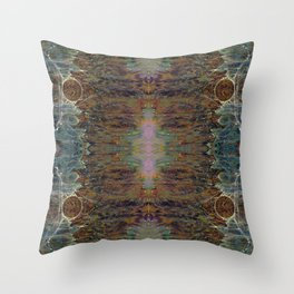 Nebulous Portal Emergence (Electric Gateway) (Reflected) Throw Pillow