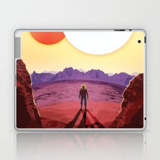 NASA Retro Space Travel Poster #8 Kepler 16b Laptop & iPad Skin