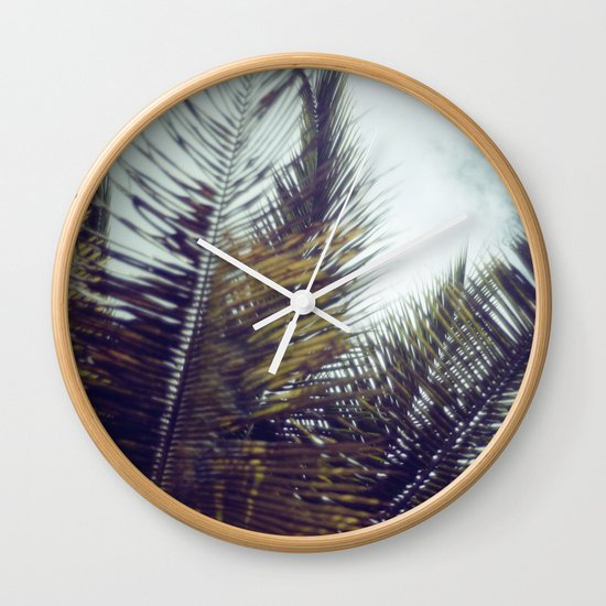 Palm Sky II Wall Clock