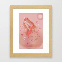 Girl in the Orange Dress Framed Art Print