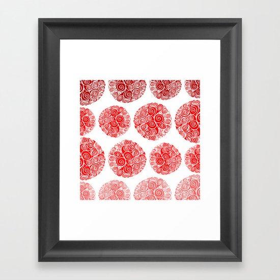 Poppy Filigrane Framed Art Print