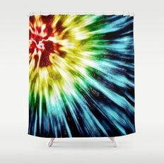 Abstract Dark Tie Dye Shower Curtain