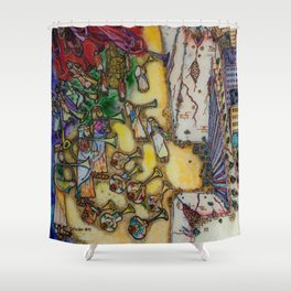 The trumpets of Jericho Shower Curtain