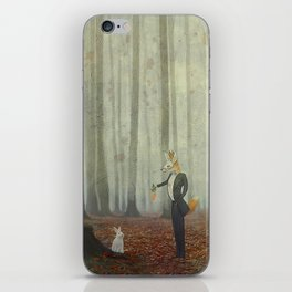 Fox and rabbit iPhone Skin