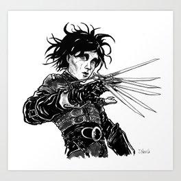 Edward Scissor Hands Art Print
