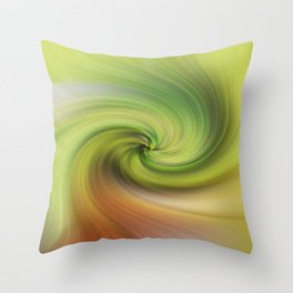 Background of yellow and green swirling texture Throw Pillow