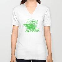 yoda V-neck T-shirts featuring Yoda by DanielBergerDesign