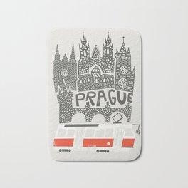 Prague Cityscape Bath Mat