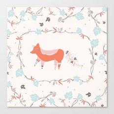 fox & grapes Canvas Print