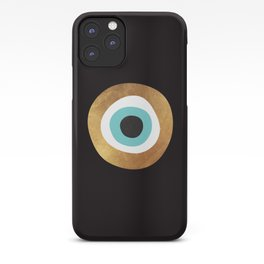 Gold Evil Eye 70s Bohemian Lucky Charm Nazar  iPhone Case