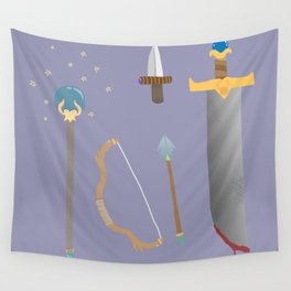 amateur weapons set Wall Tapestry