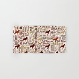 Bull Terrier Dog Word Art pattern Hand & Bath Towel