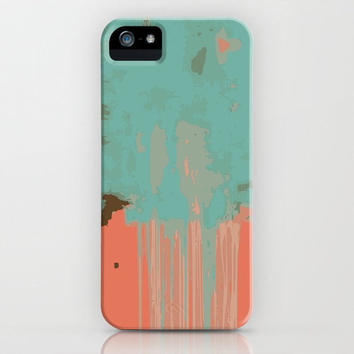 Infinity abstract art print pink turqoise iPhone Case