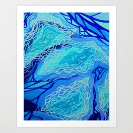 Turquoise Current Art Print