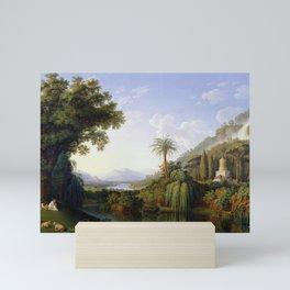 Caserta, Italy Campania Formal Gardens and Waterfall landscape painting by Jacob Philipp Hackert  Mini Art Print