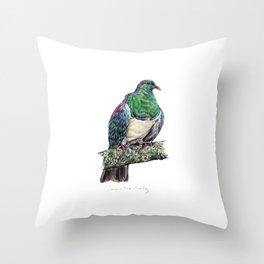 New Zealand Wood Pigeon Throw Pillow