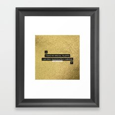 Passionately Curious Framed Art Print