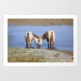 Horses in love Art Print
