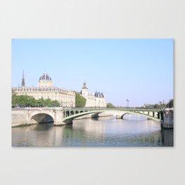 Green bridge of Paris Canvas Print