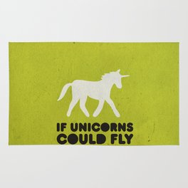 If unicorns could fly. Rug