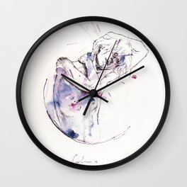 circles - con occhi porpora Wall Clock