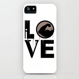 i LOVE muscles iPhone Case
